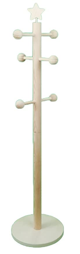 Greca Perchero Infantil. Percha árbol. En Madera en Crudo, para Pintar. Decoración y Manualidades. Medidas: 30 * 30 * 120 cms.