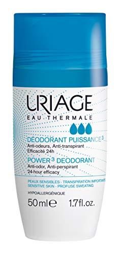 Uriage Power 3 Deodorant Roll-On, 1.7 Fl Oz