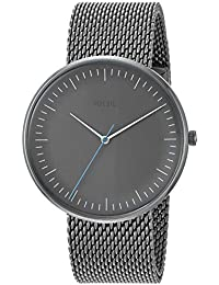 Mens The Essentialist Quartz Stainless-Steel-Plated Casual Watch, Color:
