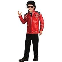 Michael Jackson Child's Deluxe Red Beat It Zipper Jacket Costume Accessory, Medium