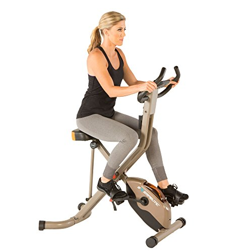 Exerpeutic Gold 575 XLS Bluetooth Smart Technology Folding Upright Exercise Bike, 400lb by Exerpeutic
