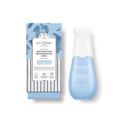 Dot & Key Post Swim Hair Dechlorinating,10% Vitamin C Spray 50ml, swimspray for hair, for chlorine protection in swimming pool
