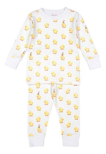 giggle Toddler Pajama Set - Baby giggle Duck - 100% Peruvian Pima Cotton, Sleepwear for Kids, Babies, and Toddlers, 2 Pc Pajama Set, 3 Toddler ()