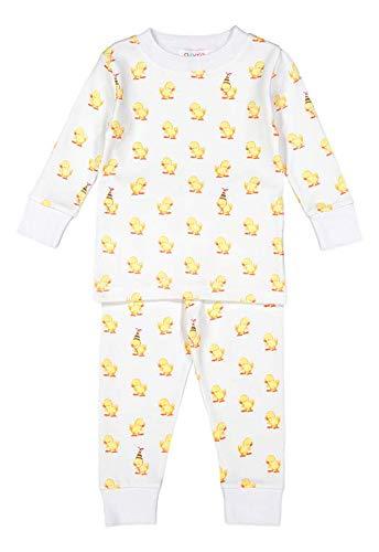 5f3a337157e3 giggle Printed PJ Set - Baby giggle Duck - 100% Peruvian Pima Cotton,  Sleepwear