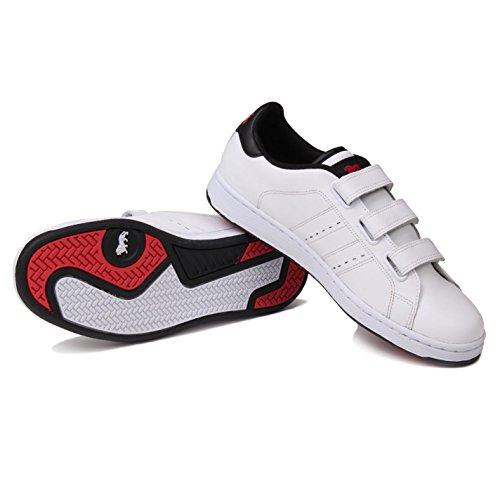 Lonsdale Mens Leyton Formateurs Sport Décontracté Chaussures Chaussures Blanc / Noir
