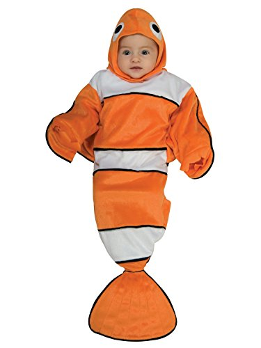 Rubie's Deluxe Baby Bunting, Lil' Guppy, 0 to 9 - Halloween Bubble Guppies Costume
