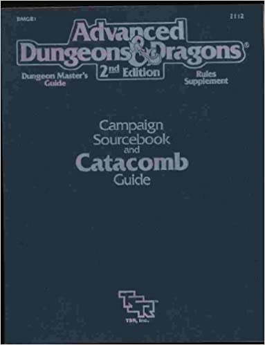 Campaign sourcebook and catacomb guidedungeon masters guiderules campaign sourcebook and catacomb guidedungeon masters guiderules supplement advanced dungeons and dragons 2nd edition fandeluxe Choice Image