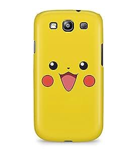 Pikachu Face Pika Pokemon Ash Kanto Hard Plastic Snap On Back Case Cover For Samsung Galaxy S3 Carcasa