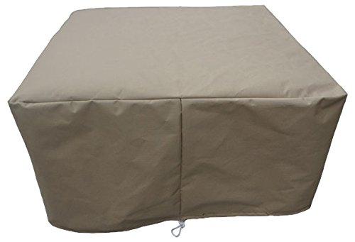 TKC TKC010WC-O Protective Cover for Wicker Ottoman, Beige