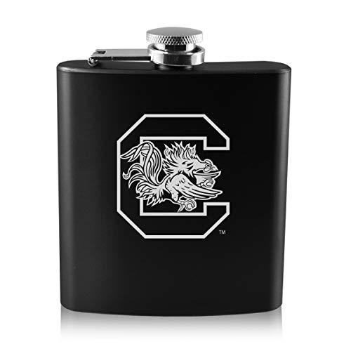 University of South Carolina -6 oz. Color Stainless Steel Flask-Black