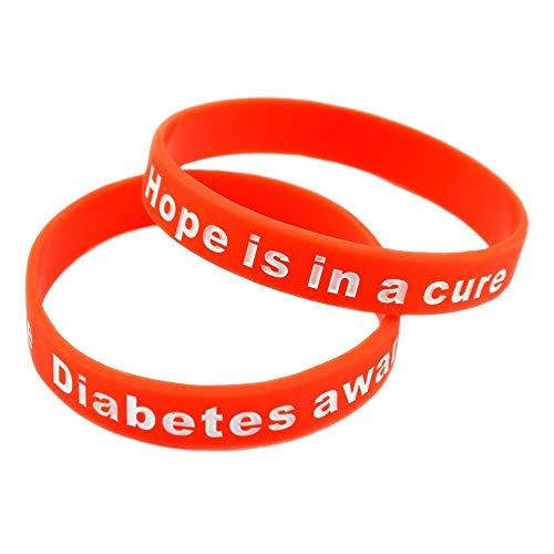 WY-Tong Rubber Bracelet Silicone Bracelet Diabetes Awareness Diabetes Warning Bracelet Inspirational Silicone Hand Ring ()