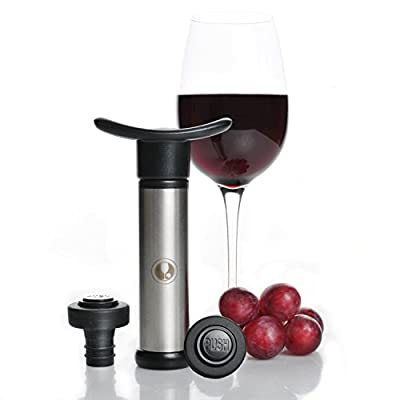 FastOVacuum Wine Preserver Pump - Wine Saver with 2 Stoppers