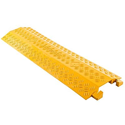 Rage Powersports DH-CR4-V2 High Traffic Pedestrian/Light Equipment Drop-Over Cable Cover Ramp
