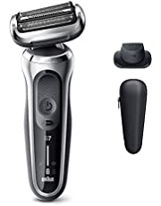 Braun Electric Razor for Men, Series 7 7020s 360 Flex Head Electric Shaver with Precision Trimmer, Rechargeable, Wet & Dry and Travel Case, Silver