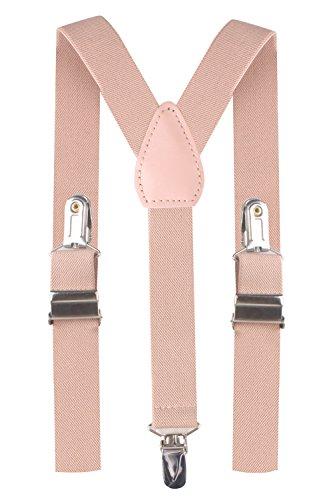 BODY STRENTH Pink Suspenders for Kids Pants Suspenders Girls Nude Pink