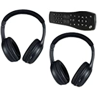 Equinox Uplander Tahoe Traverse Silverado Suburban DVD Headphones Headsets (Set of Two) and One Remote Control 2007 2008 2009 2010 2011 2012 2013