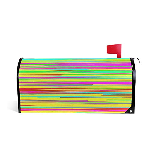 Ladninag Abstract Horizontal Stripes Mailbox Covers Magnetic Mail Letter Post Box Cover Standard Size ()