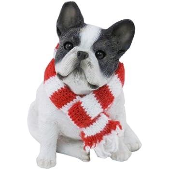 Amazon.com: Kurt Adler Noble Gems French Bulldog Glass Christmas ...