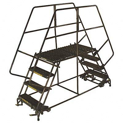 Ballymore Tough Welded Steel Double Entry Mobile Work Platform - 5 Step, 60 x 50 x 36 inch -- 1 each. (Mobile Double Platform Entry)