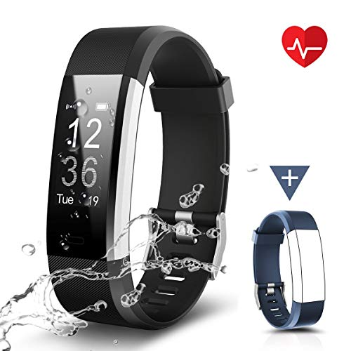 Chereeki Fitnessarmband, LATEC fitnesstracker horloge met hartslagmeter, waterdicht IP67, activiteitstracker…