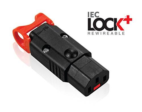 "IEC LOCK+ ""The World's First Locking Rewireable IEC320-C13 Connector"" No More Accidental Unplugging or Disconnections"
