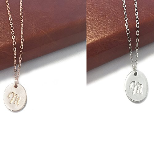 Delicate Script Initial Necklace Pendant