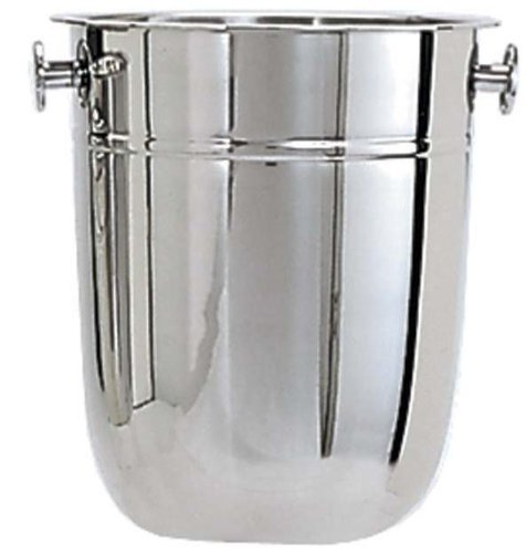 Adcraft WB-8 8 qt Capacity, Stainless Steel Wine Bucket with Deluxe Mirror Finish - Set of 3 - Adcraft Cookware Set