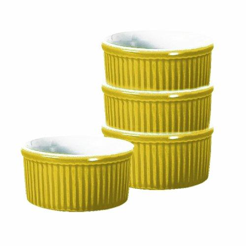 Emile Henry 6-Ounce Ramekin, Set of 4, Citron Yellow by Emile Henry