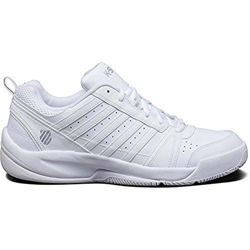 K-Swiss Men's Vendy II CMF Shoe, White/Silver, 12 M US
