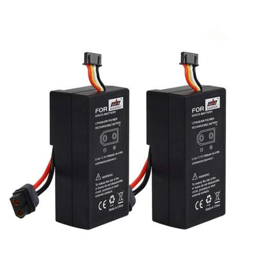 - Beacon Pet 2-Pack High Capacity 3100mAh 11.1V Li-ion Rechargeable Battery for Parrot Disco FPV