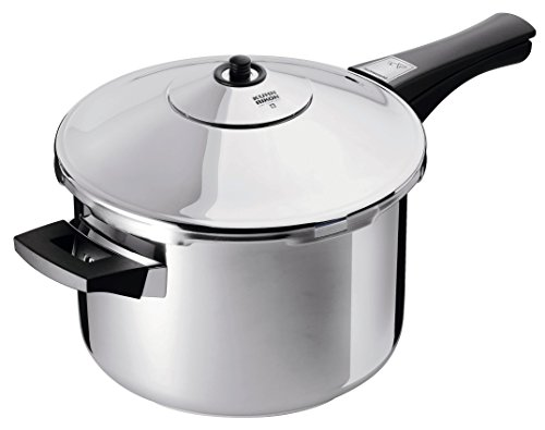 Kuhn Rikon Duromatic Stainless-Steel Saucepan Pressure Cooker - 5.3-Qt