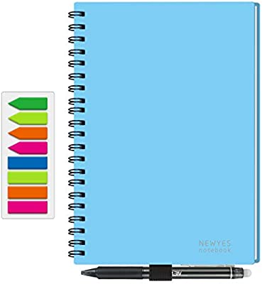 NEWYES Reusable Smart Notebook Erasable Wirebound Notebook