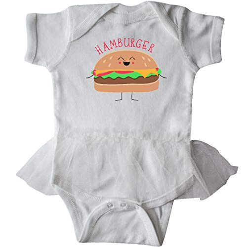 inktastic - Hamburger Costume Infant Tutu Bodysuit Newborn White 31d0b ()