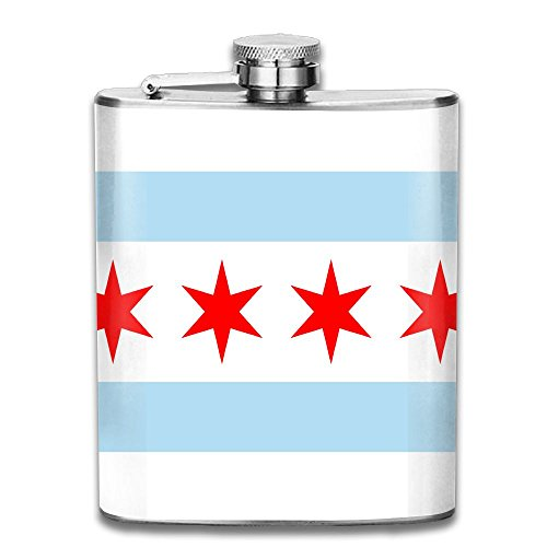 Liangrong Hui Chicago Flag Outdoor Portable Stainless Steel Flagon Hip Flask (Cheap Personalised Shot Glasses)