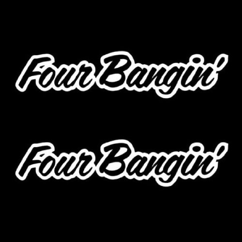 iJDMTOY (2) Four Bangin! JDM Cool Dope Sortaflash Style Car Window Bumper Vinyl Decal Stickers