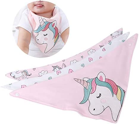 3 STKS Slabbetjes Speeksel Handdoek Baby Katoen Zacht en Absorberend Slabbetje Vlek en Geurbestendig Wasbaar voor Pasgeboren Jongens en Meisjes