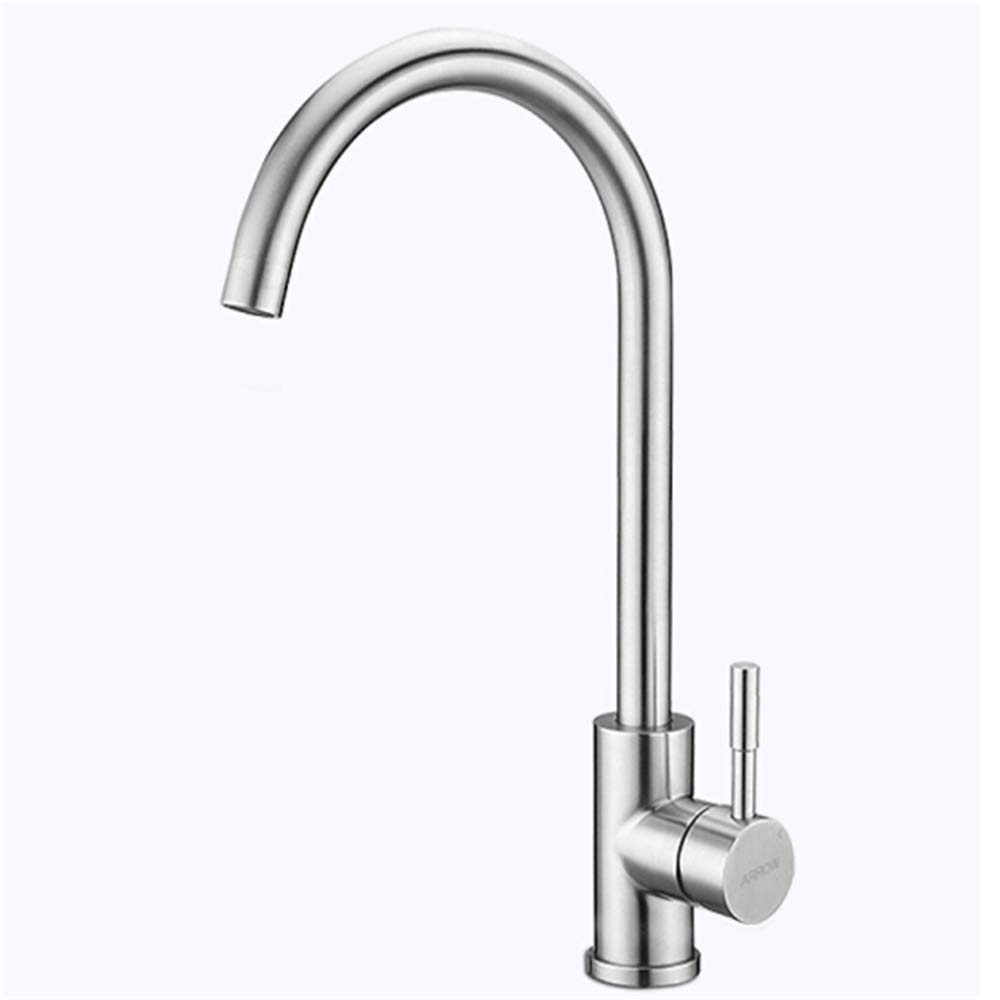 304 Stainless Steel Kitchen Faucet 360 Degree redating hot and Cold Dish Basin Faucet