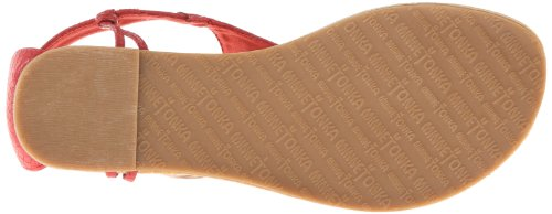 Minnetonka Fiesta Femmes Rouge Chaussures Sandales Pointure EU 37