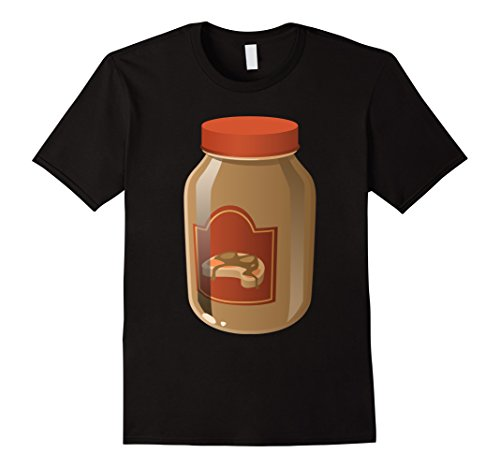 [Mens Peanut Butter Funny Food Halloween T-Shirt XL Black] (Peanut Butter And Jelly Costumes Homemade)