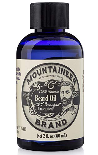 Beard Oil by Mountaineer Brand (2oz) | Barefoot (Unscented) | Premium 100% Natural Beard Conditioner