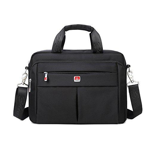 Messenger Bag da uomo, impermeabile, resistente ai graffi, facile da pulire, NOTEBOOK Borsa a tracolla, borsa a spalla, borsa a mano, borsa cartella business per 14COMPUTER PORTATILE, tracolla remov