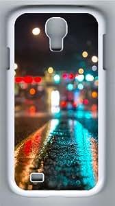 Light on road Custom Samsung Galaxy I9500/Samsung Galaxy S4 Case Cover Polycarbonate White