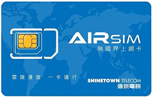 airSIM Global SIM Card ($20 precharged) for Over 100 Countries with Tailor Made Days/Data Plans Covering Asia, Europe, America for Unlocked Device ...