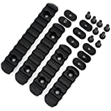 DL SUPPLY Advanced Tactical Polymer Rail Sections Set for MOE Hand Guards BLACK