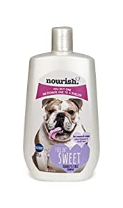 Nourish Tearless Face Dog Shampoo for Creases/Stains, Natural Blueberry and Vanilla Bean 16 oz - You Buy 1, We Donate 1 to a Shelter, Made in USA, PH Balanced