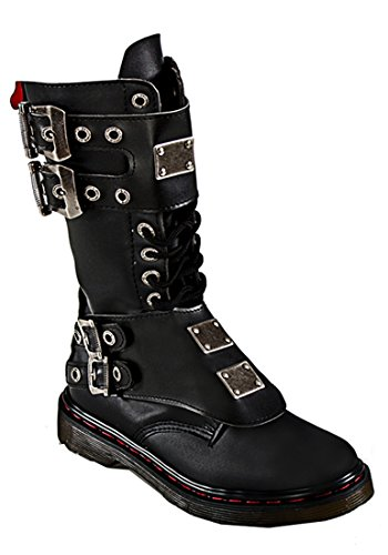 SharpSpirit Steampunk Punk Military Combat Gothic Cyber Rave Futuristic Gears War Mens Boots