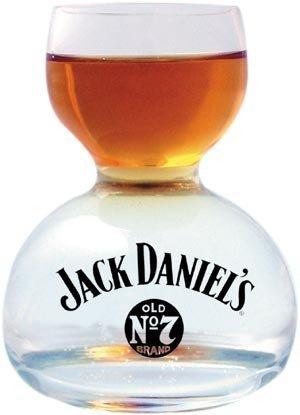 Jack Daniel's Chaser Jigger Double Bubble Shot Glass - 3 Oz by Jack Daniel's