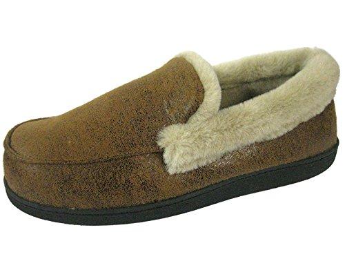 SaneShoppe - Zapatillas de casa Hombre marrón