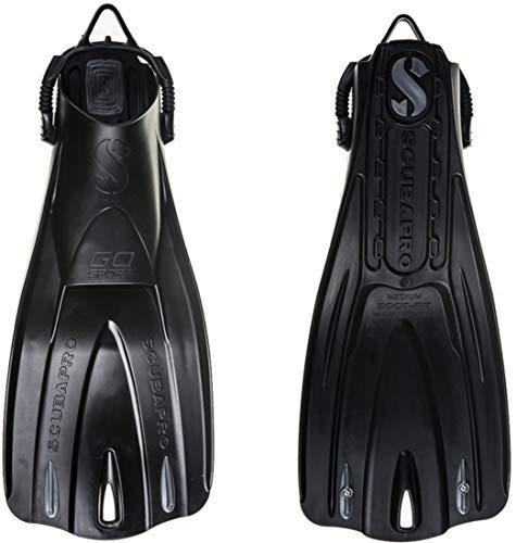 (Scubapro GO Sport Fins (Medium, Black))