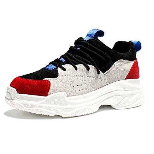 (チェリーレッド) CherryRed メンズ レディース スポーツ スニーカー トラベル ランニング 運動靴 歩きやすい 通気 37 ブラック
